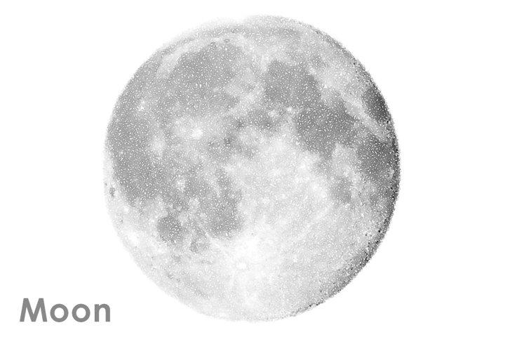 Moon vector set