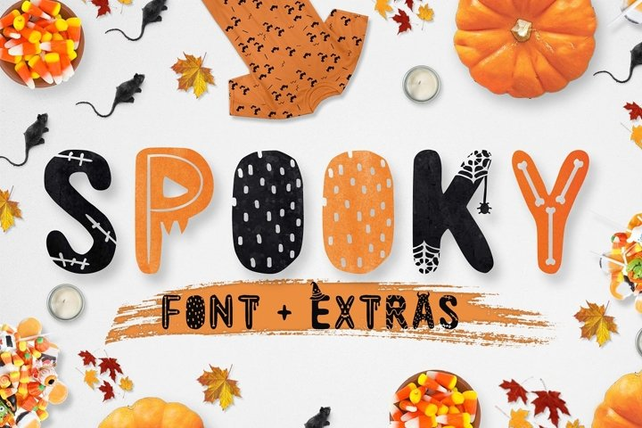 Spooky font with EXTRAS!