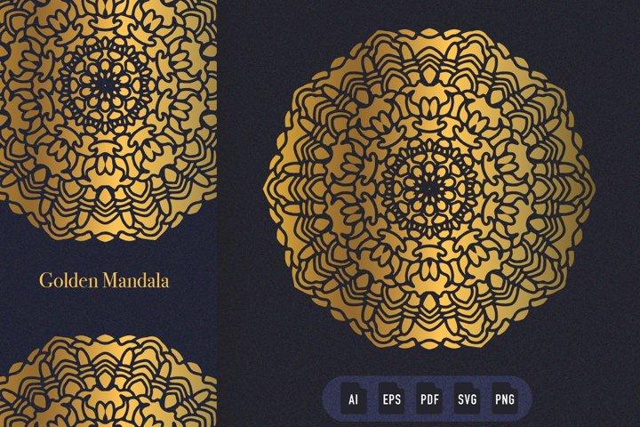 Golden Mandala Art 08