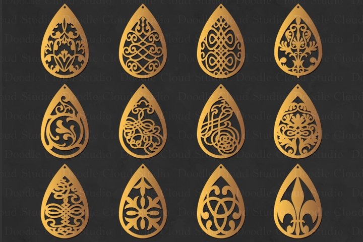 Earring svg, Earring Templates , Jewelry, Pendant SVG.