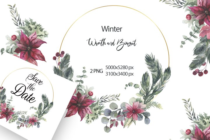 Christmas Wreath Clipart PNG