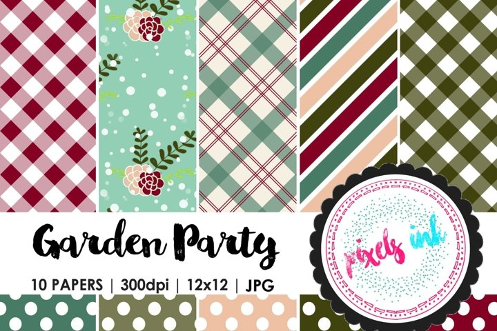 Garden Inspired Digital Papers
