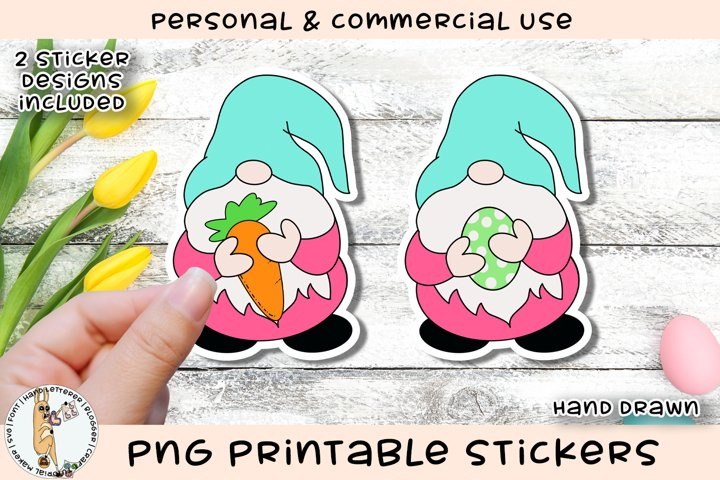 Easter Gnome Printable Stickers
