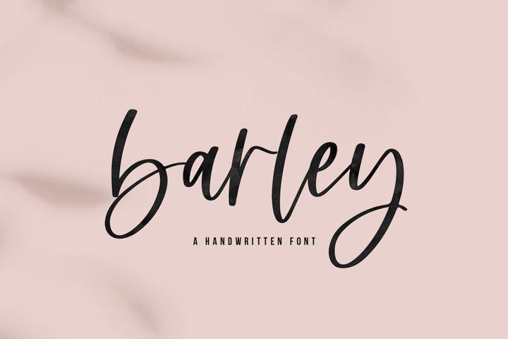 Barley - A Handwritten Script Font