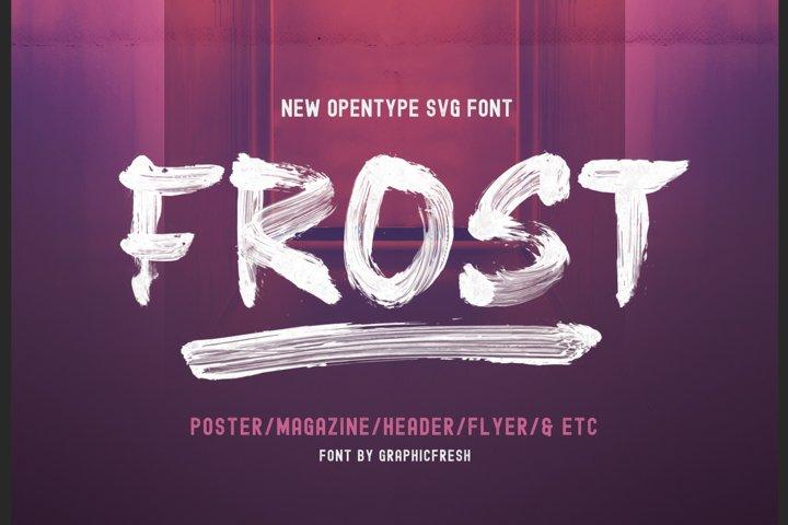 Frost SVG Font