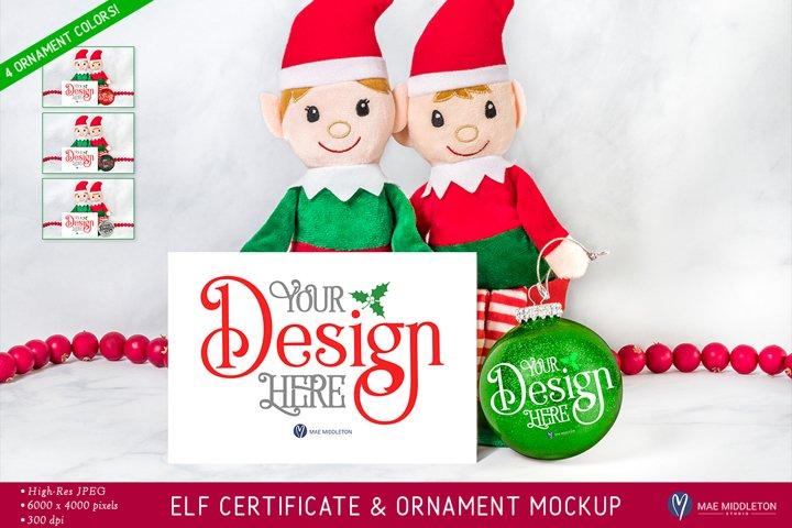 Christmas mockup | Elf, Santa Cam, Certificate / Card