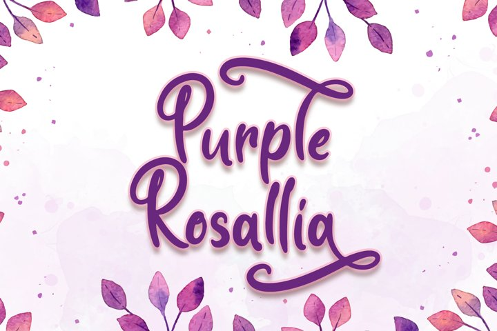 Purple Rosallia - Wedding Font