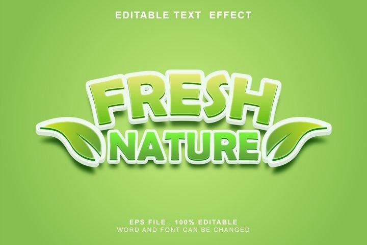editable text effect fresh nature
