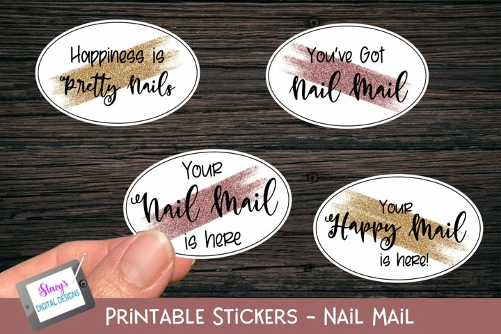 Nail Mail Stickers - 4 Small Business Printable Stickers