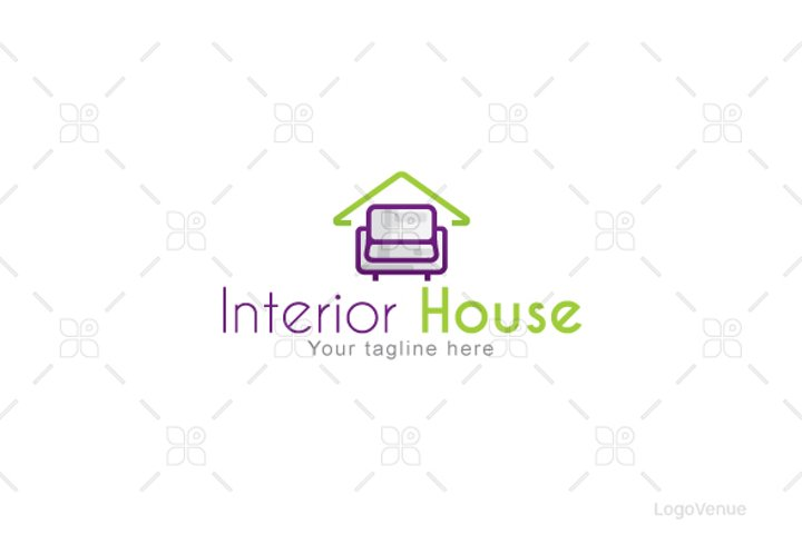 Interior House - Furniture & Furnishings Stock Logo Template