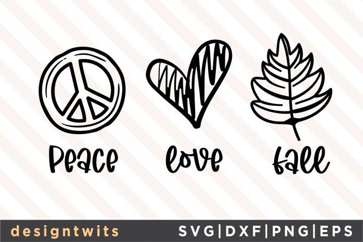 Peace Love Fall SVG