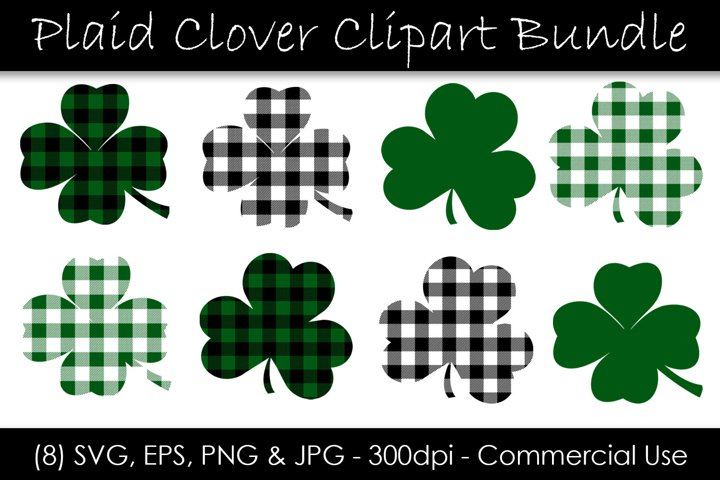 St. Patricks Day Shamrocks and Clovers SVG