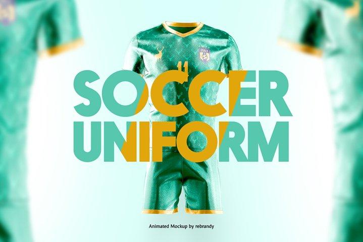 Soccer Uniform Animated Mockup