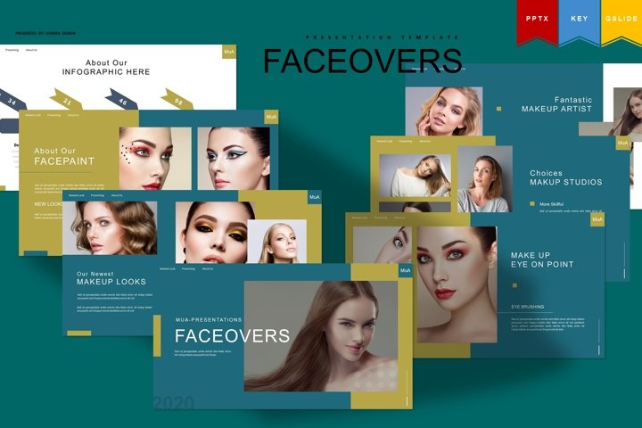 Faceover | Powerpoint, Keynote, Google Slides Template