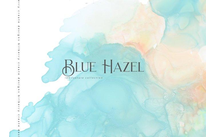 Blue Hazel ink texture