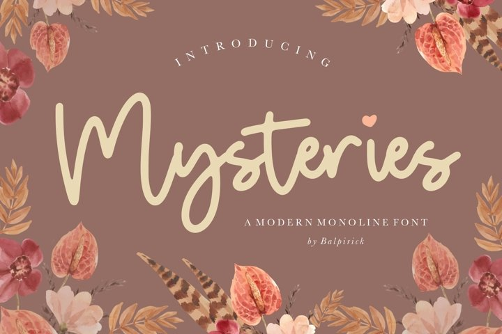 Mysteries Modern Monoline Font