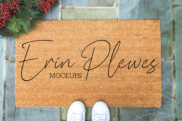 Coir Doormat Mockup | Door Mat Mock Up | Farmhouse Rug Photo