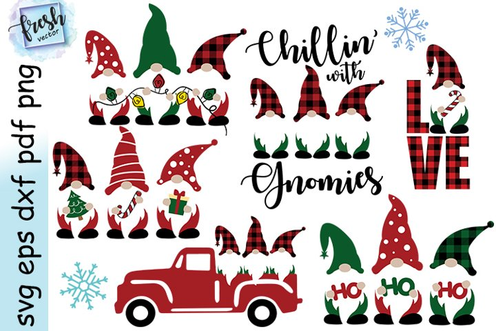 Christmas Gnomes Bundle Svg Christmas SVG Gnome Svg