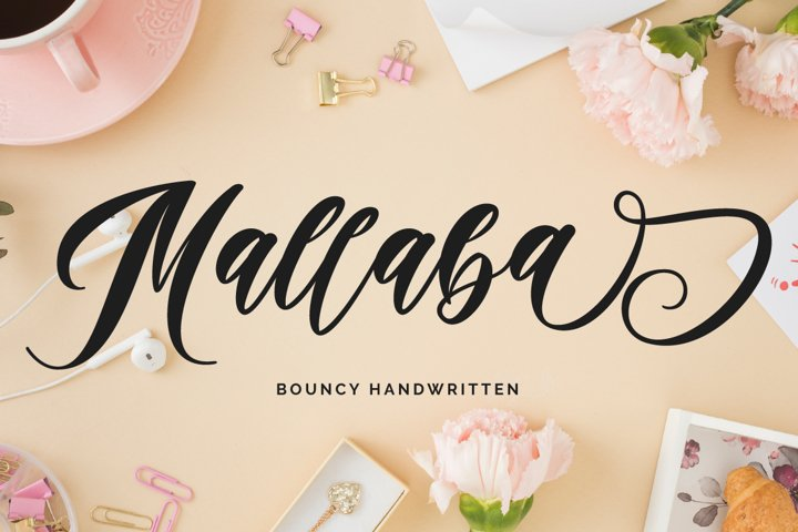 Mallaba - Bouncy Handwritten