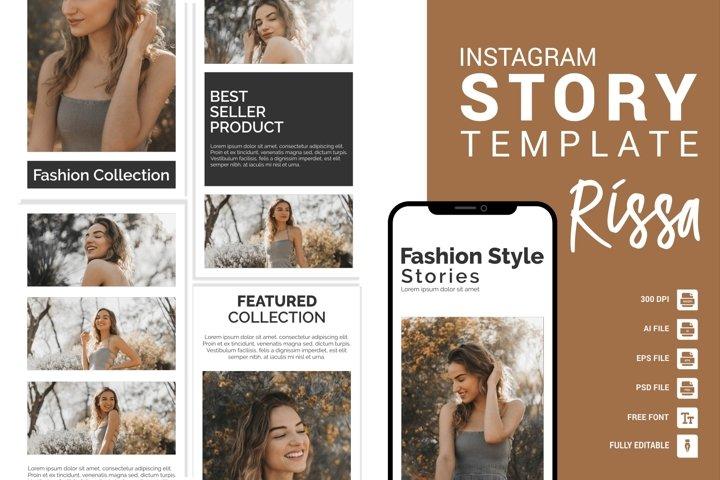 Rissa - Fashion Instagram Story Template
