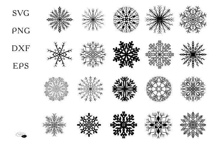 Snowflakes SVG set, Silhouette, Cut file, Christmas elements