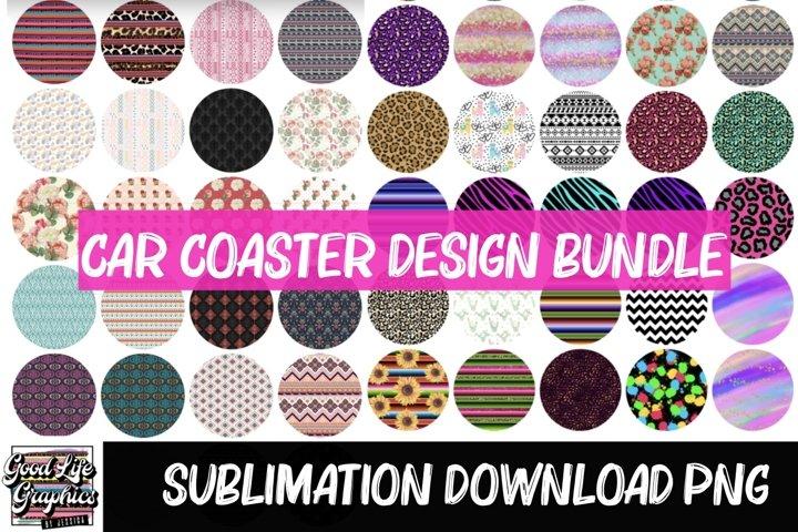 Car coaster designs for sublimation-PNG