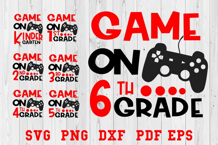 Game On Back To School Kindergarten Primary School SVG
