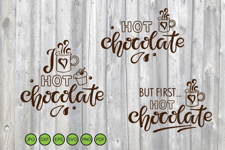 Hot Chocolate SVG PNG DXF. Christmas Cut Files. Winter svg