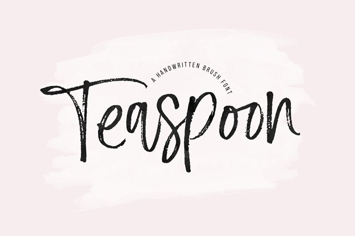 Teaspoon - A Handwritten Brush Font