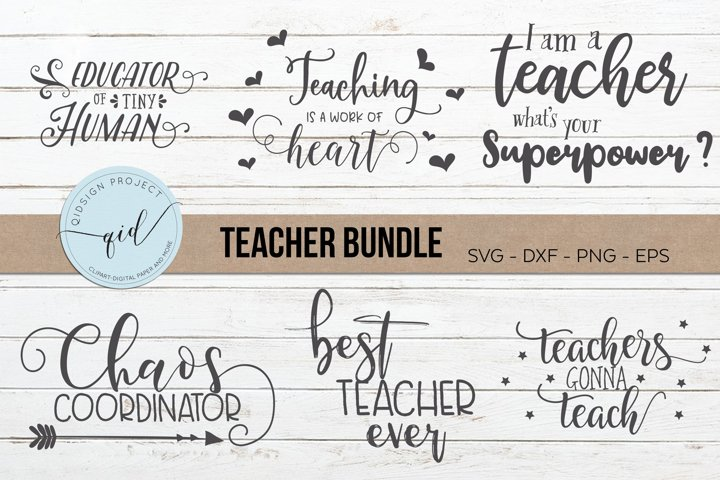 Teacher Bundle, Teacher cutting files, SVG DXF PNG EPS
