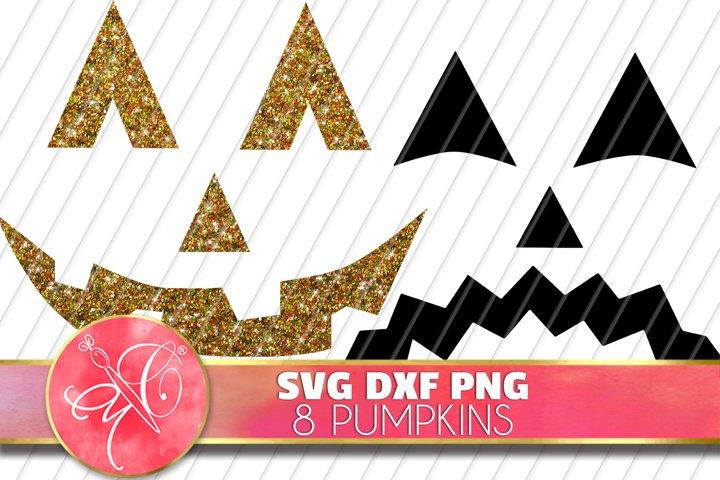 Glitter Pumpkin Bundle Files / DXF, SVG,PNG / 16 Images