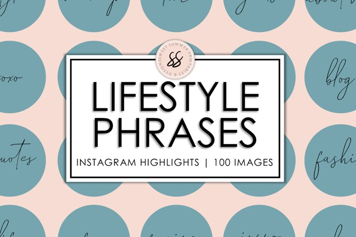 100 Lifestyle Instagram Teal Highlight Covers