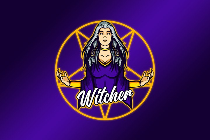 Anger of the Witch Lady Mascot Vector Template