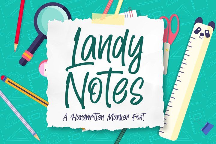 Landy Notes - Handwritten Maker Font