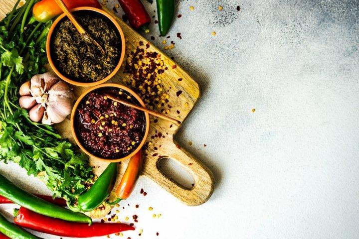 Traditional Georgian spicy adjika sauce
