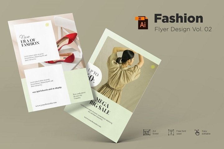 Fashion flyer design Vol. 02