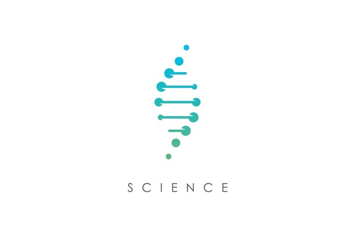 Genetic science logo design template