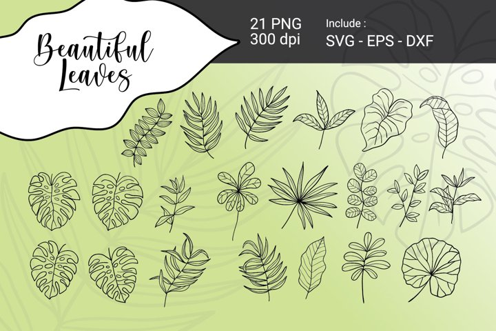 Beautiful Leaves SVG