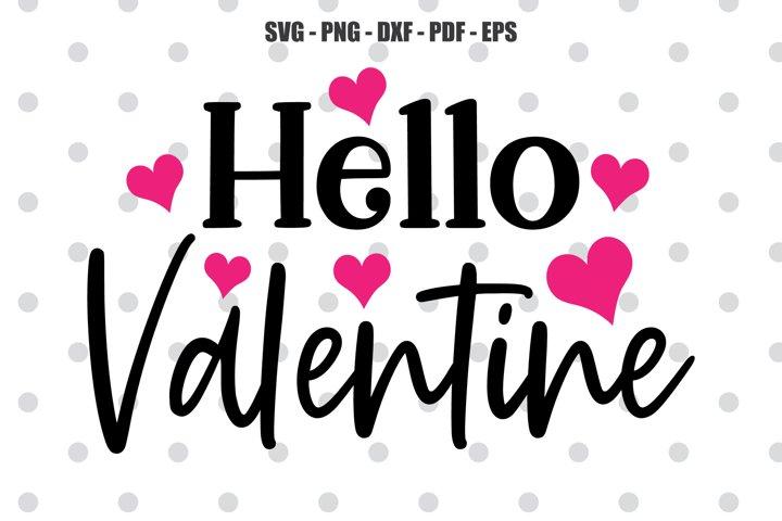 Hello Valentine SVG