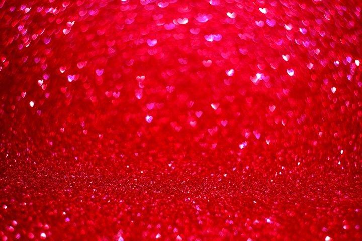 Bokeh heart glitter background