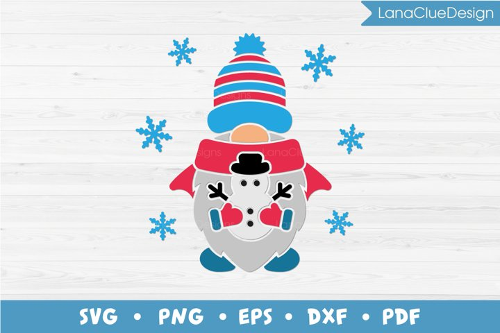 Winter Gnome SVG PNG DXF EPS PDF