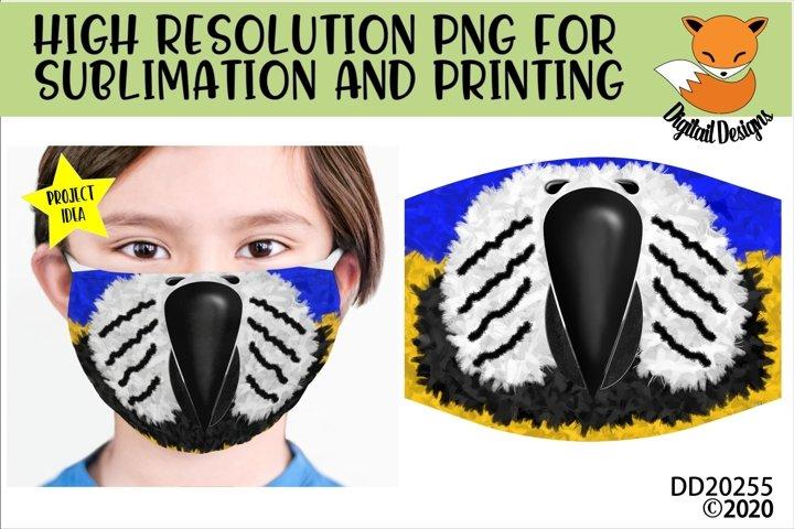 Parrot Mouth Beak Face Sublimation Design For Masks