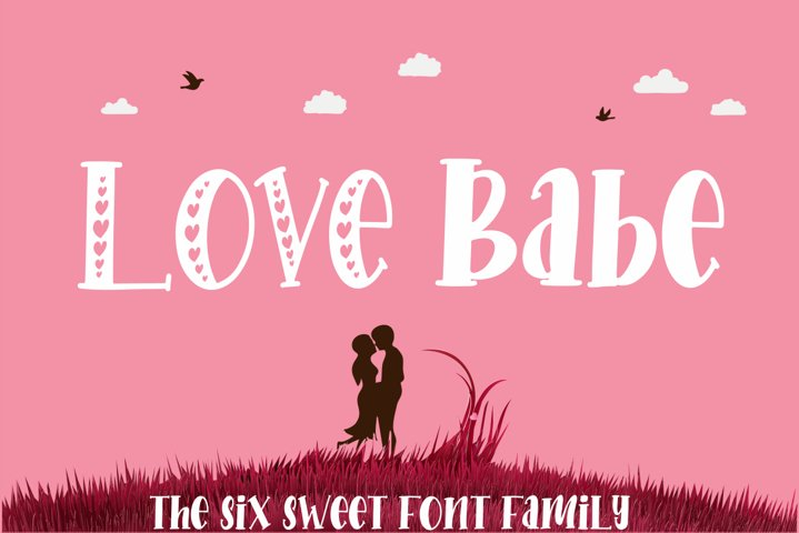 Love Babe - The Six Sweet Font Family