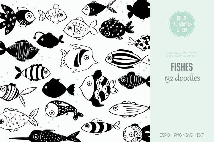 Hand Drawn Fish | Cute Tropical Fishes