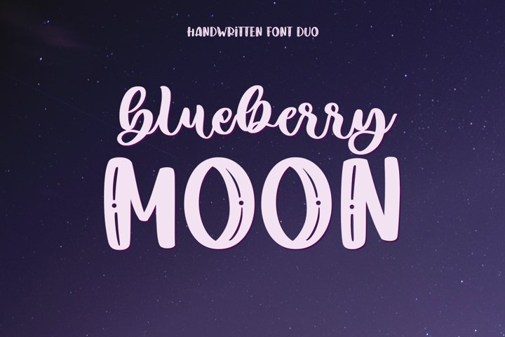 Blueberry Moon Font Duo