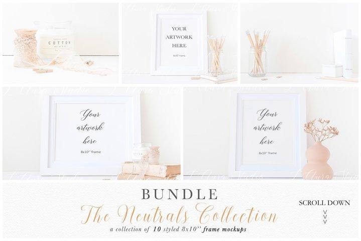 Frame mockup bundle - minimalist 8x10