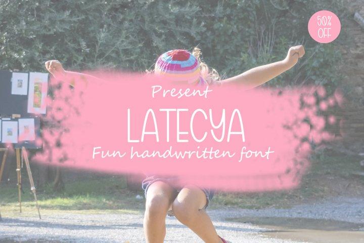 Latecya Handwritten Font