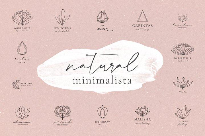 Natural Minimalista 15 Logos