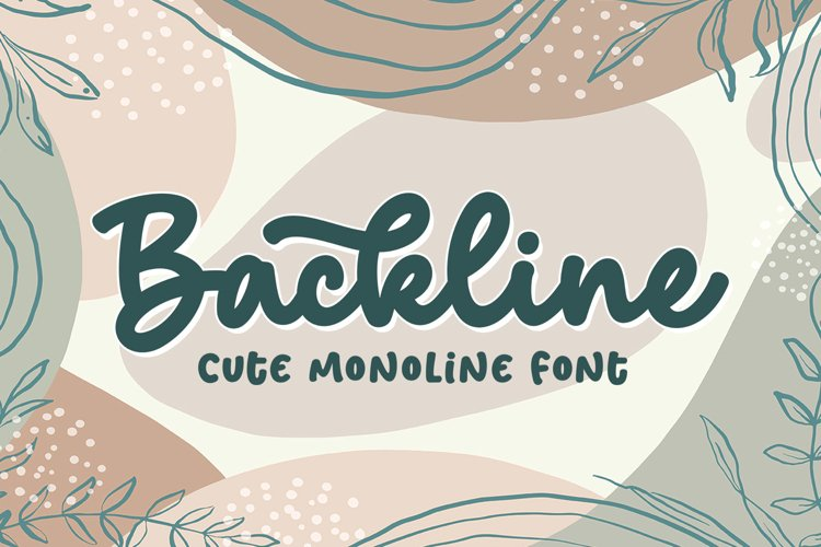 Backline - Cute Script Font example image 1