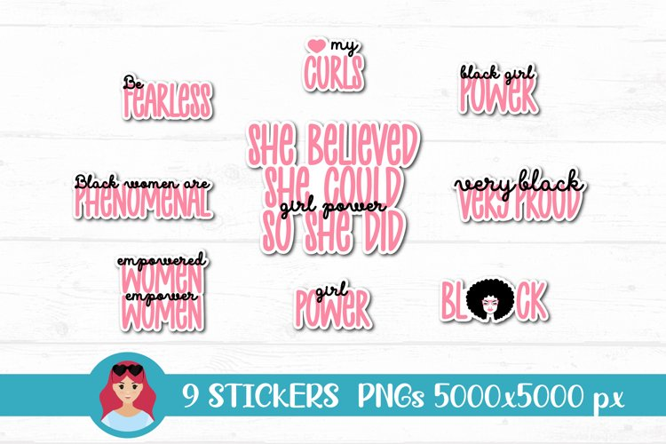 Black Woman Stickers PNG Women Power